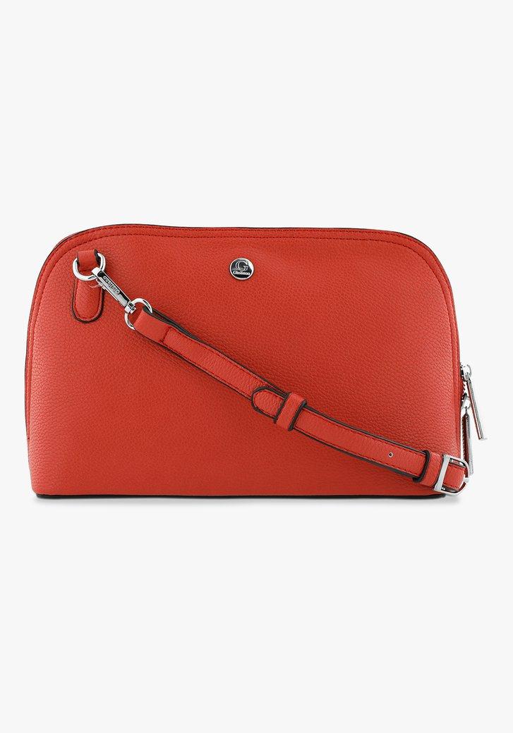 Rode handtas met afneembare schouderband