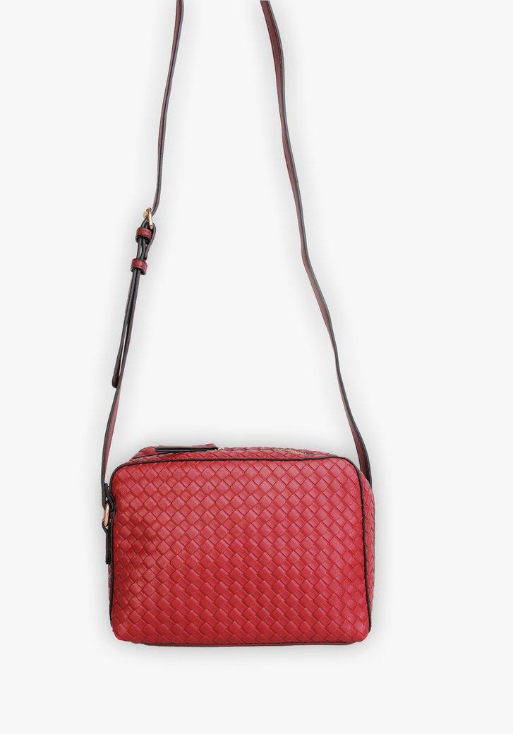 Rode handtas met motief