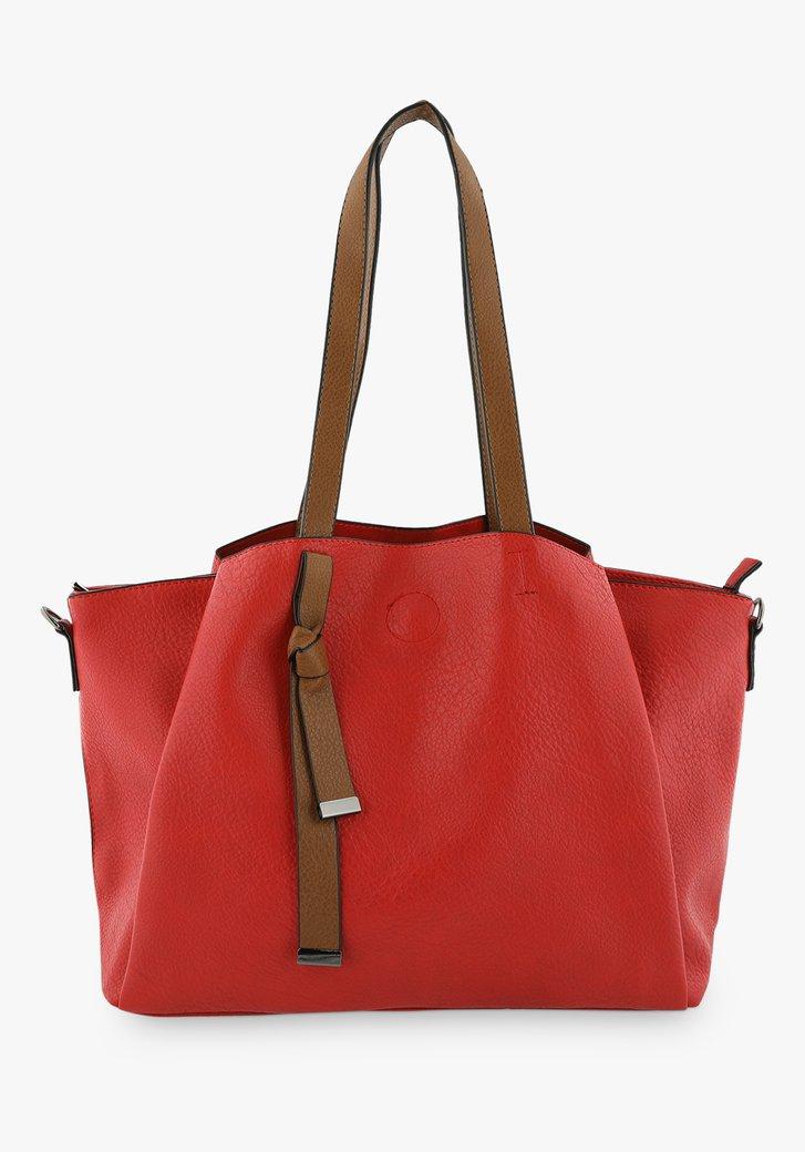 Rode handtas met schouderriem