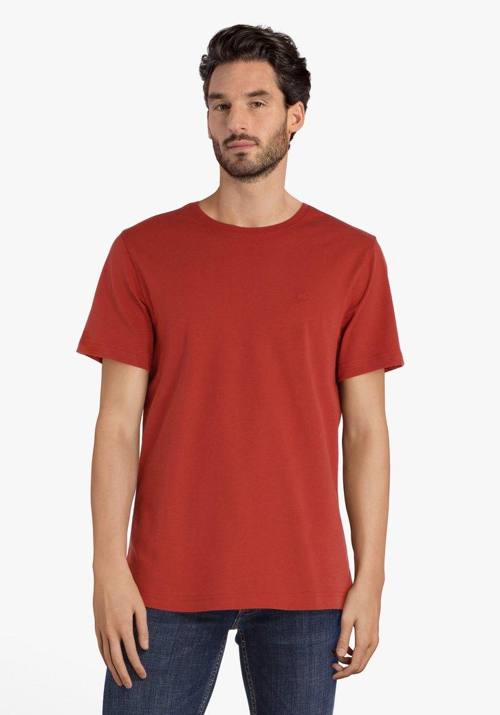 Rode katoenen T-shirt