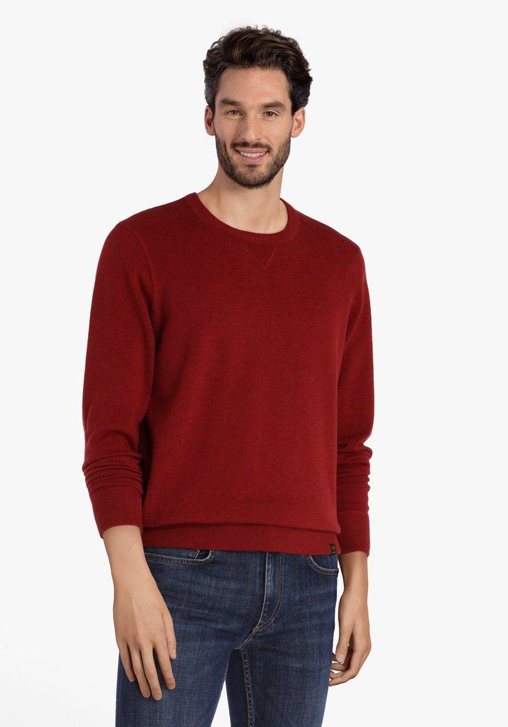 Rode katoenen trui