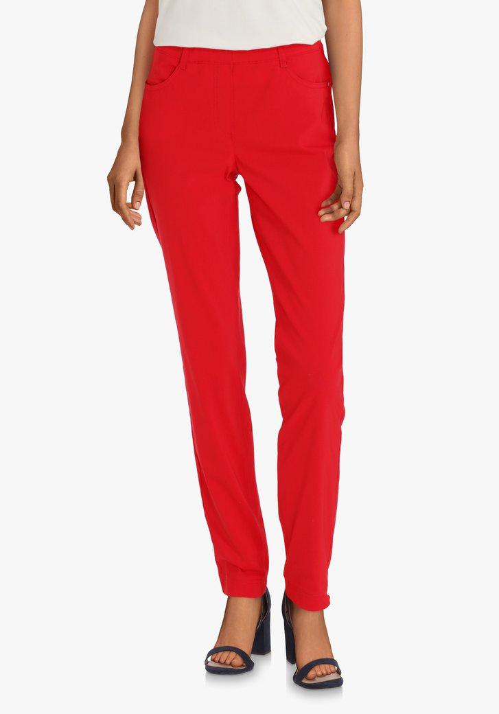 Rode legging met elastische taille