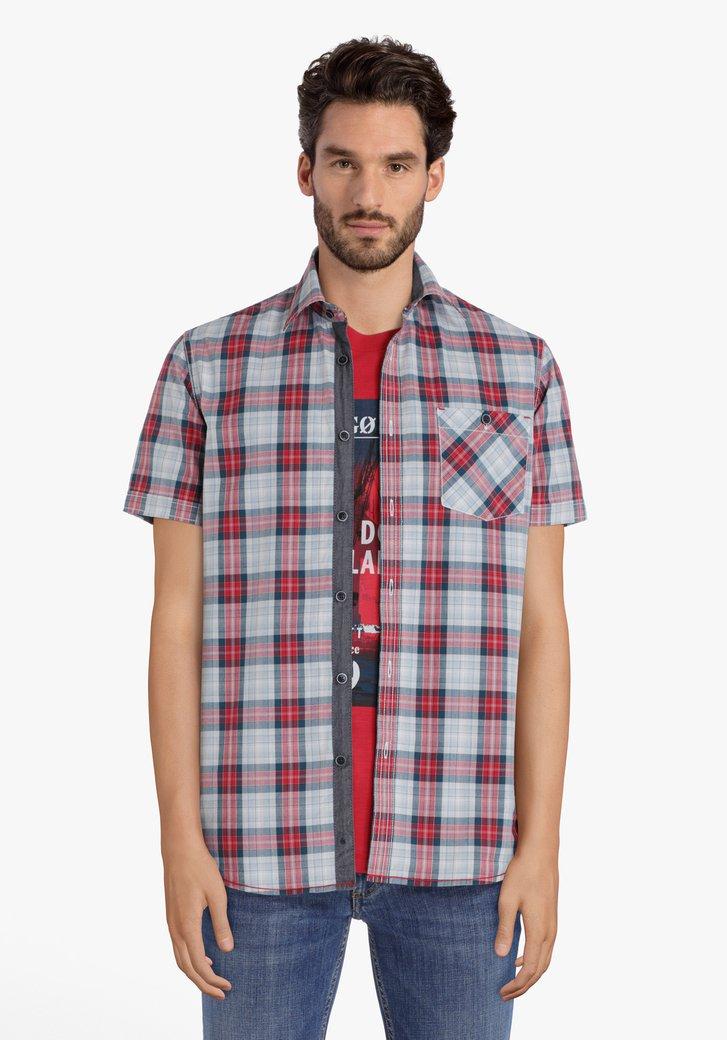 Rood geruit hemd – regular fit