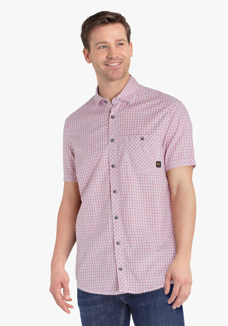 Rood-wit geruit hemd - regular fit