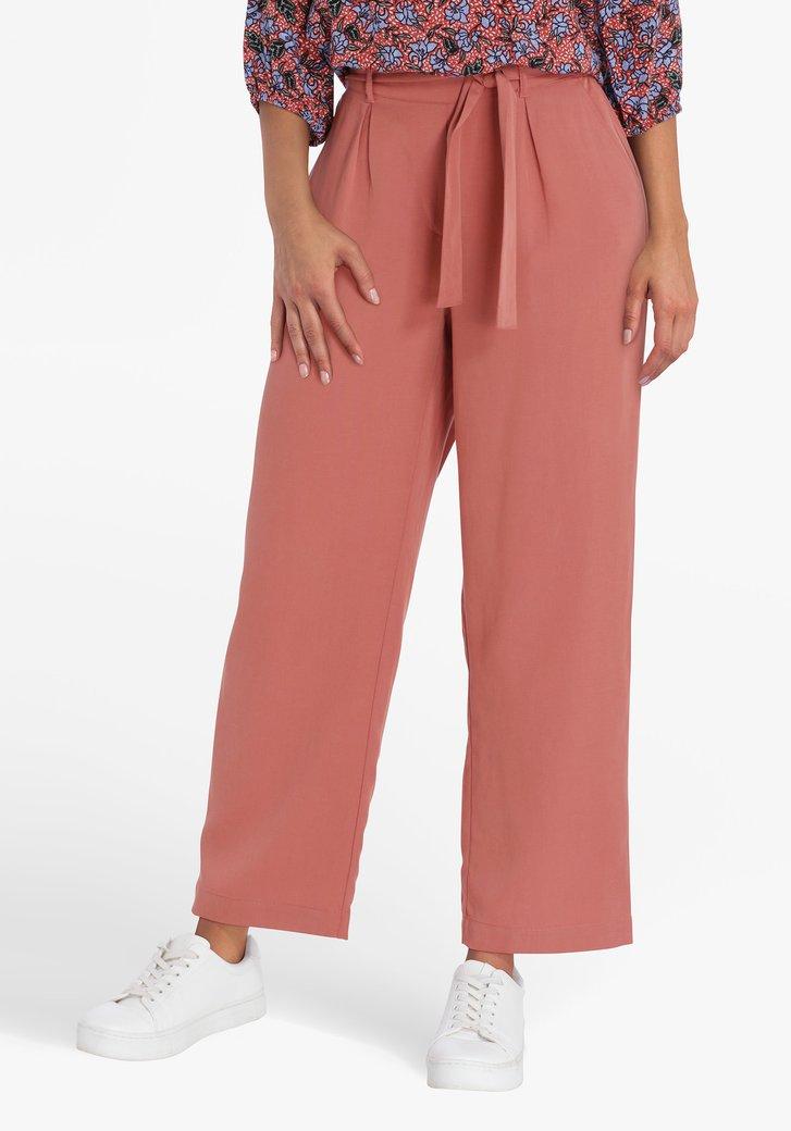 Roodbruine brede broek