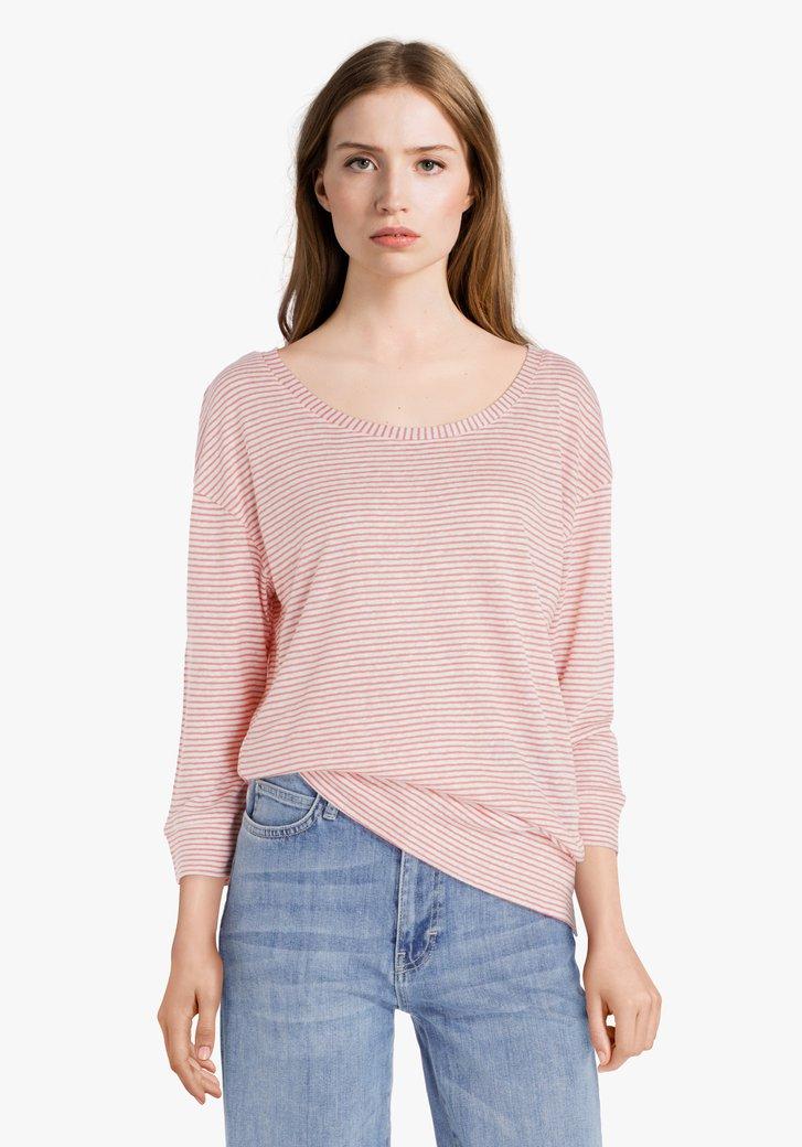 Roos gestreept T-shirt