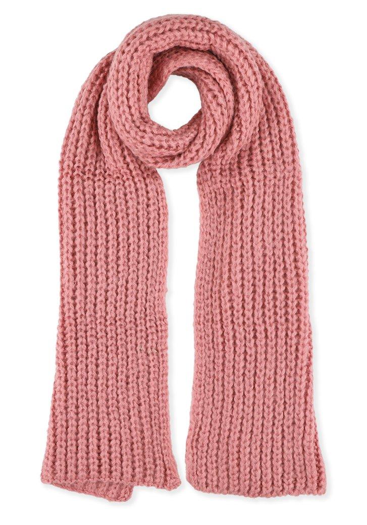 Roze gebreide sjaal