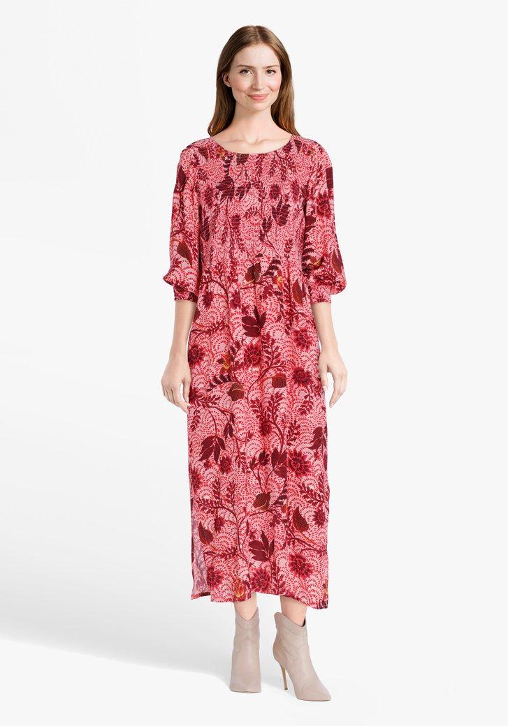 Roze kleed met bloemenprint