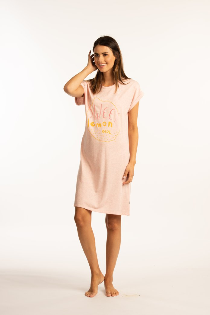 "Afbeelding van Roze nachthemd ""Sweet lemon girl"""