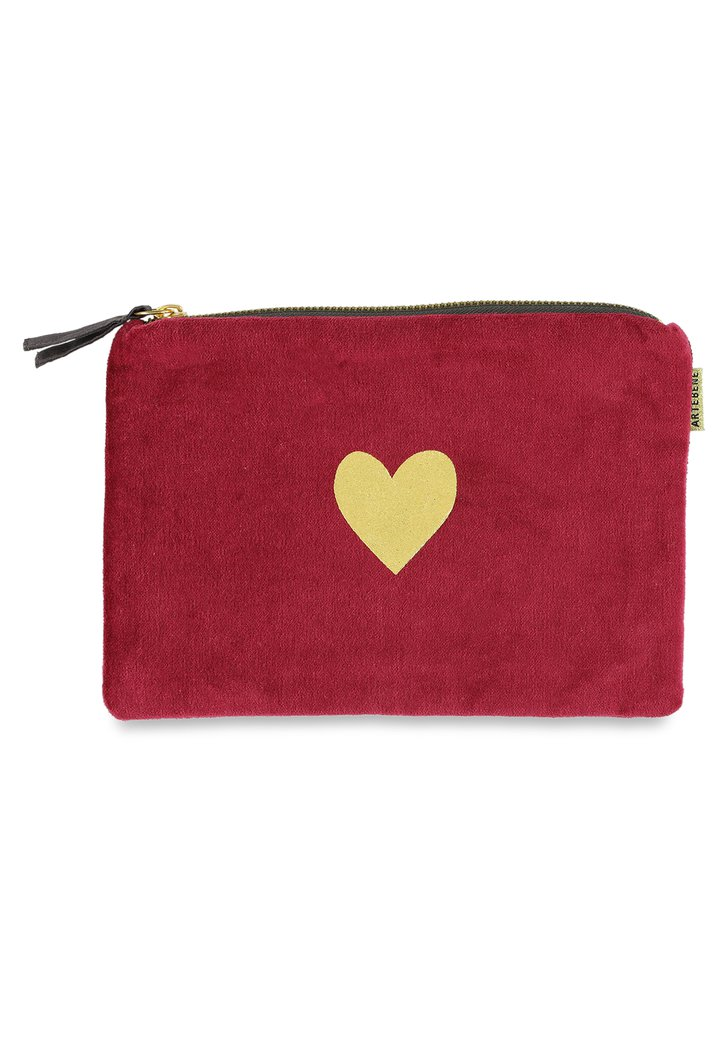 Afbeelding van Roze tas met goudkleurig hartje