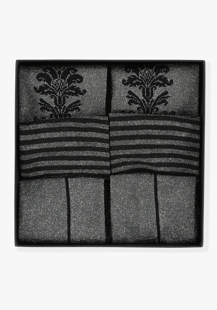 Set van 3 paar kousen - Zwart x Zilver