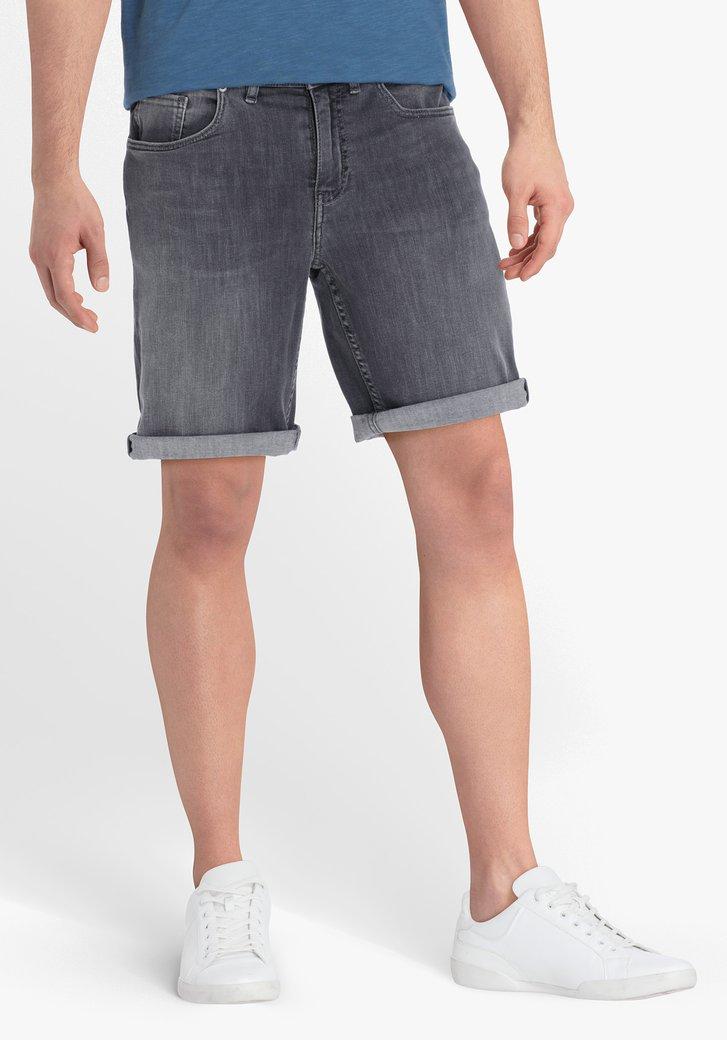 Short en jean gris