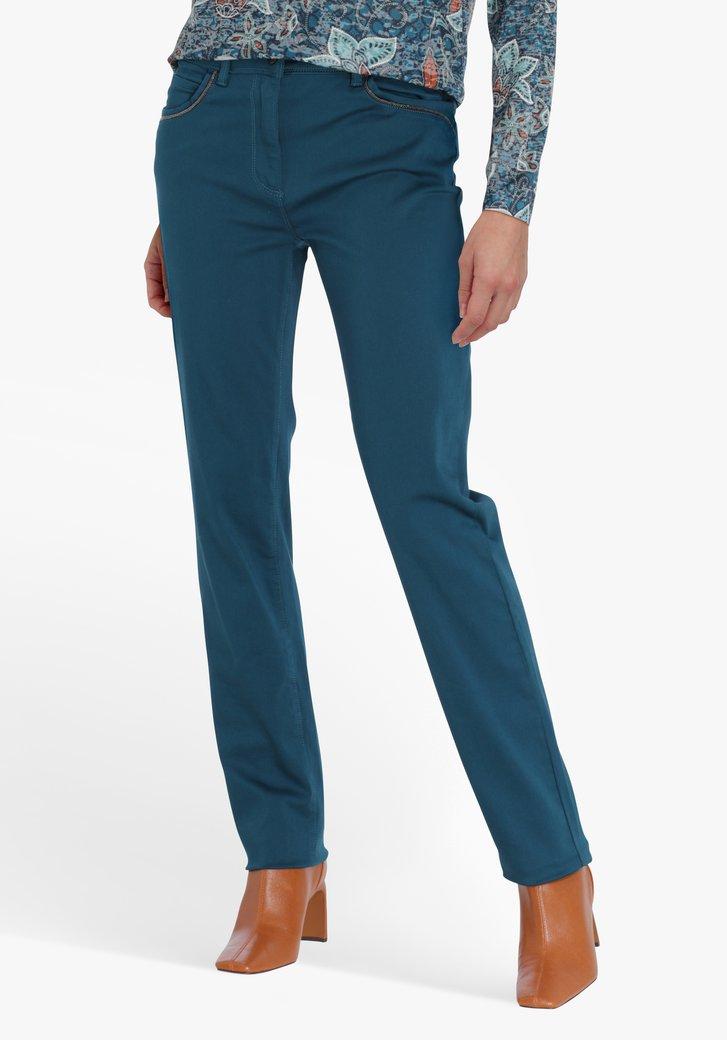 Staalblauwe broek - straight fit