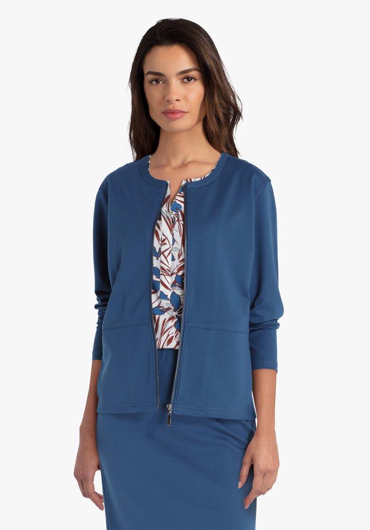 Staalblauwe cardigan