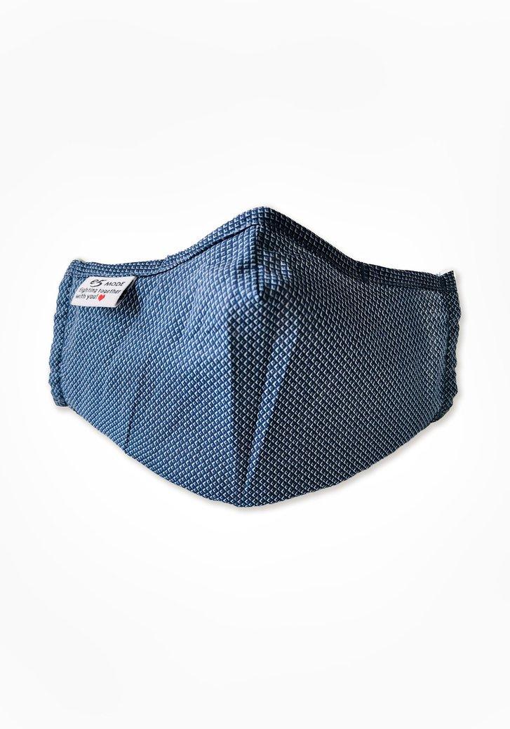 Stoffen mondmasker - donkerblauw met fijne print