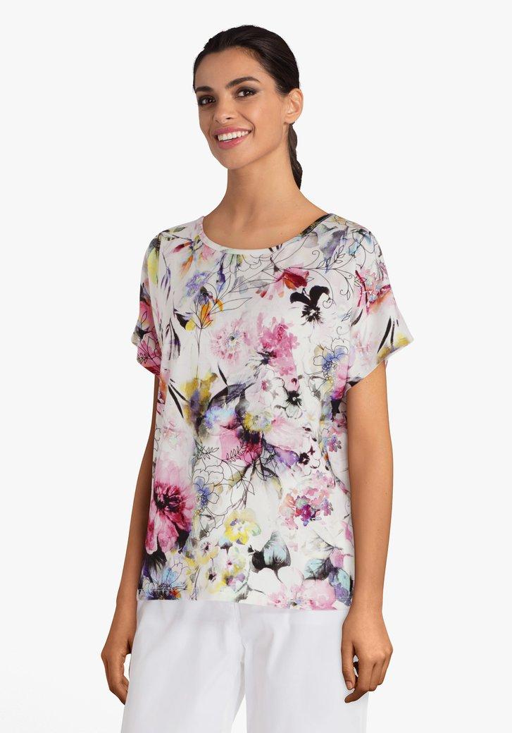 T-shirt à fleurs pastels