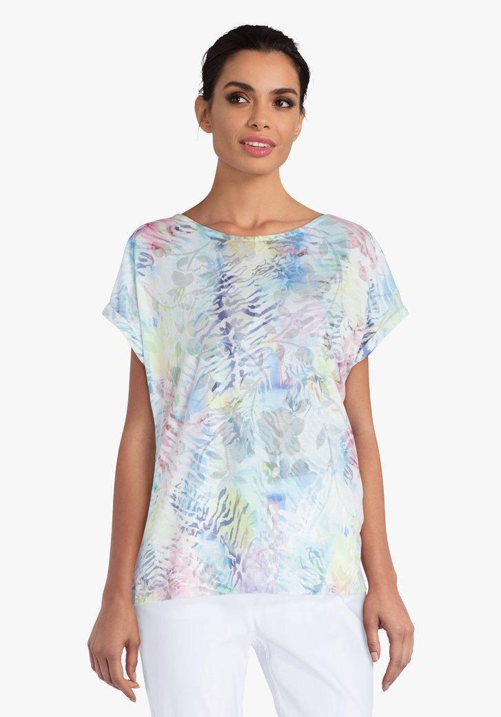 T-shirt à imprimé dans des couleurs pastel
