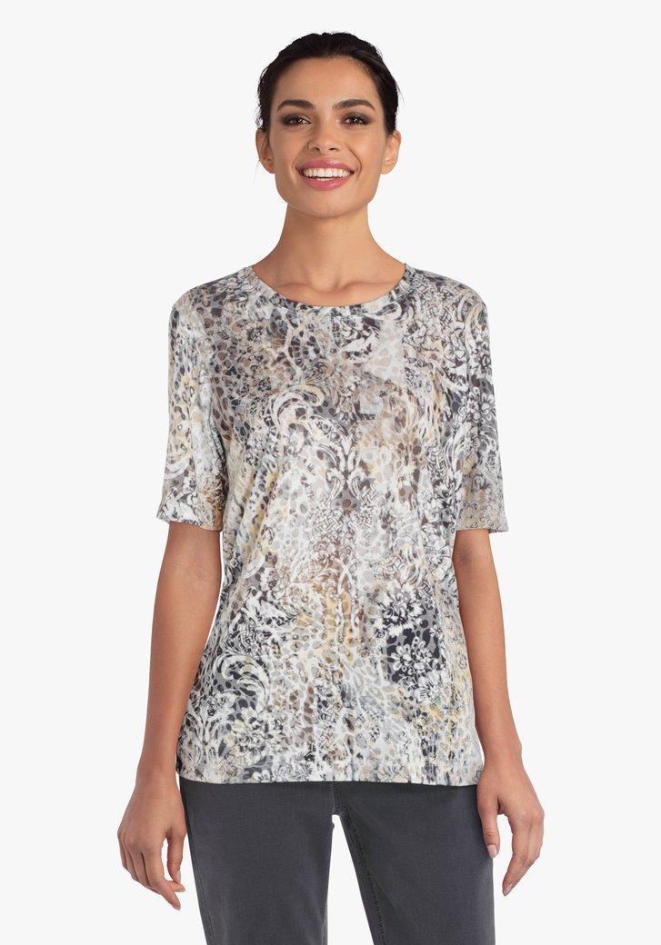 T-shirt avec imprimé gris