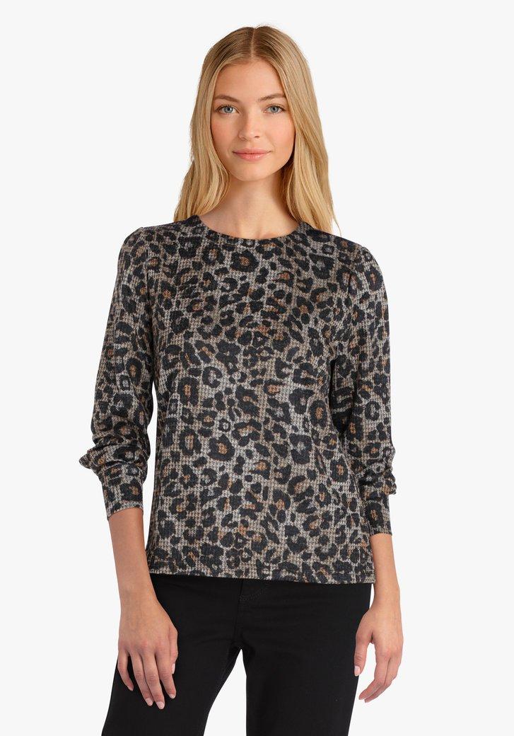 T-shirt avec imprimé léopard