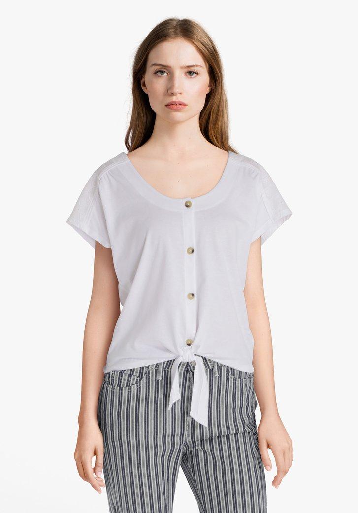 T-shirt blanc à broderie