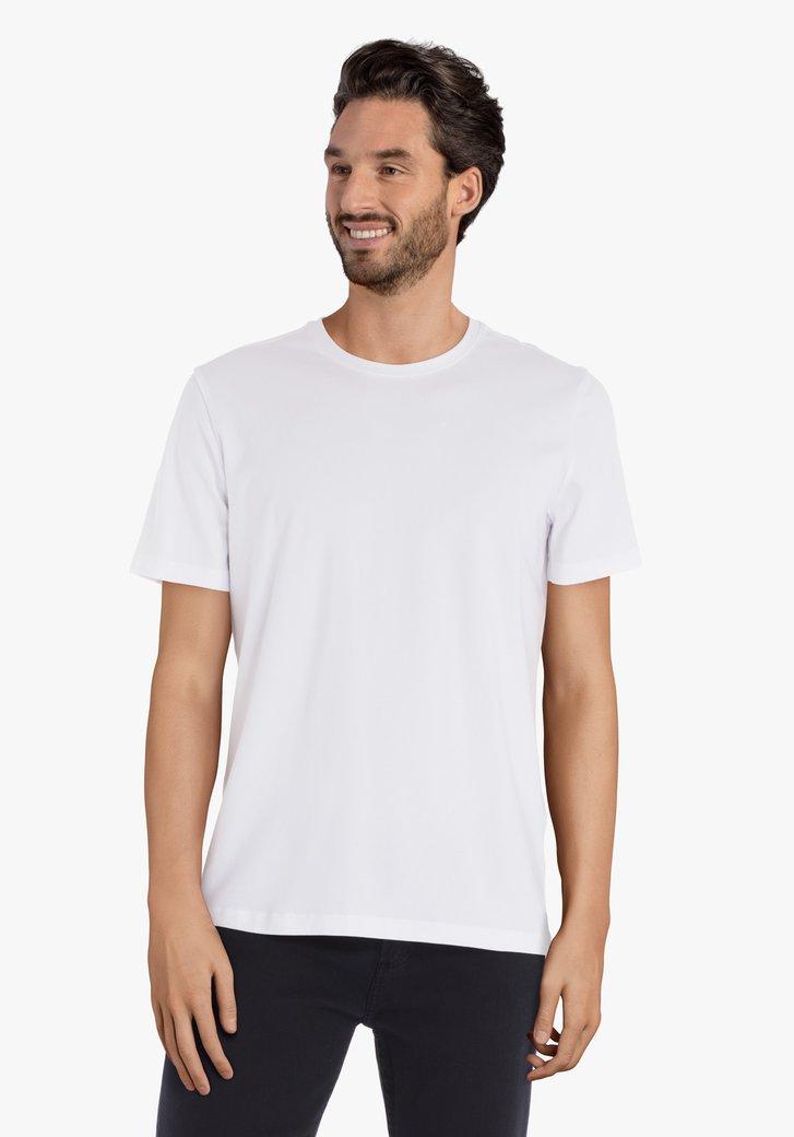 T-shirt blanc à col rond