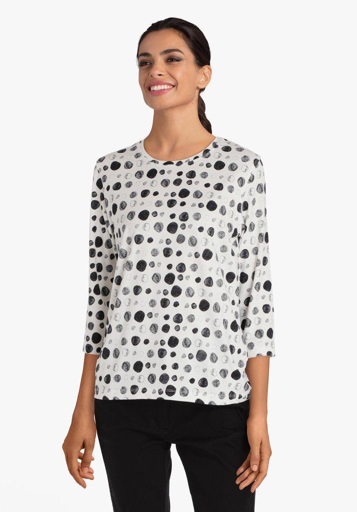 T-shirt blanc avec des cercles grises