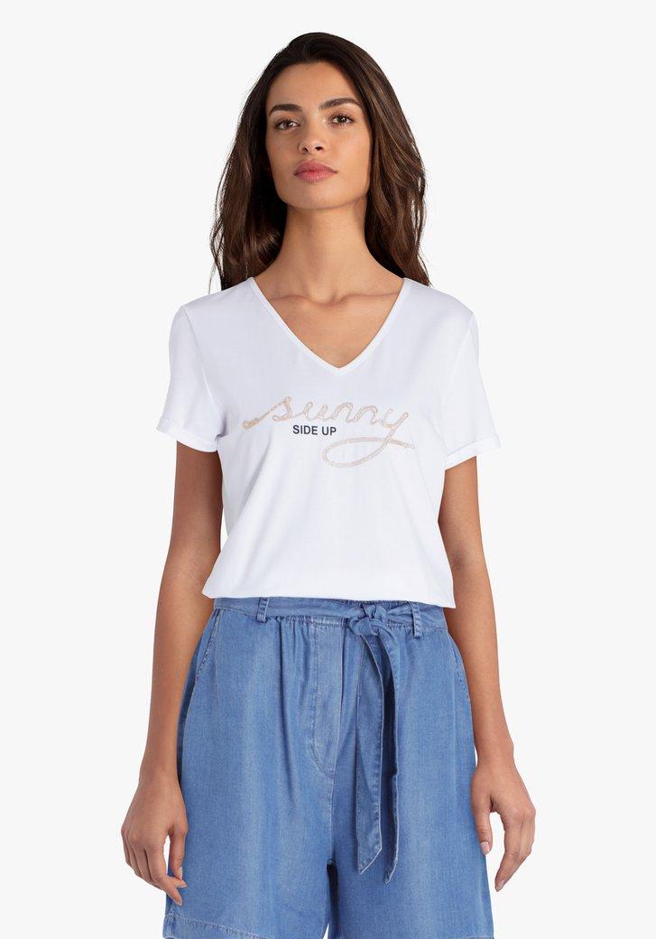 T-shirt blanc avec inscription
