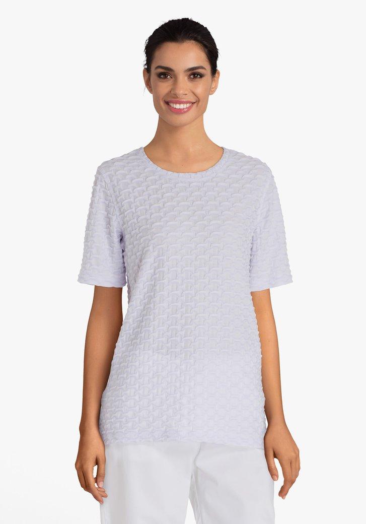 T-shirt blanc en relief