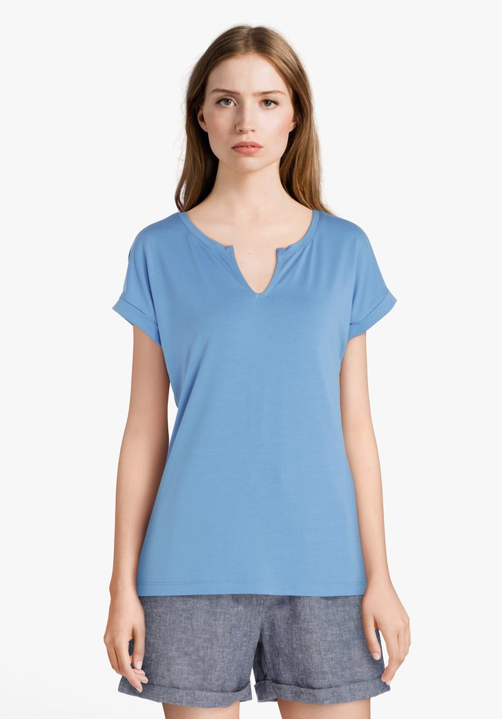 T-shirt bleu clair en modal