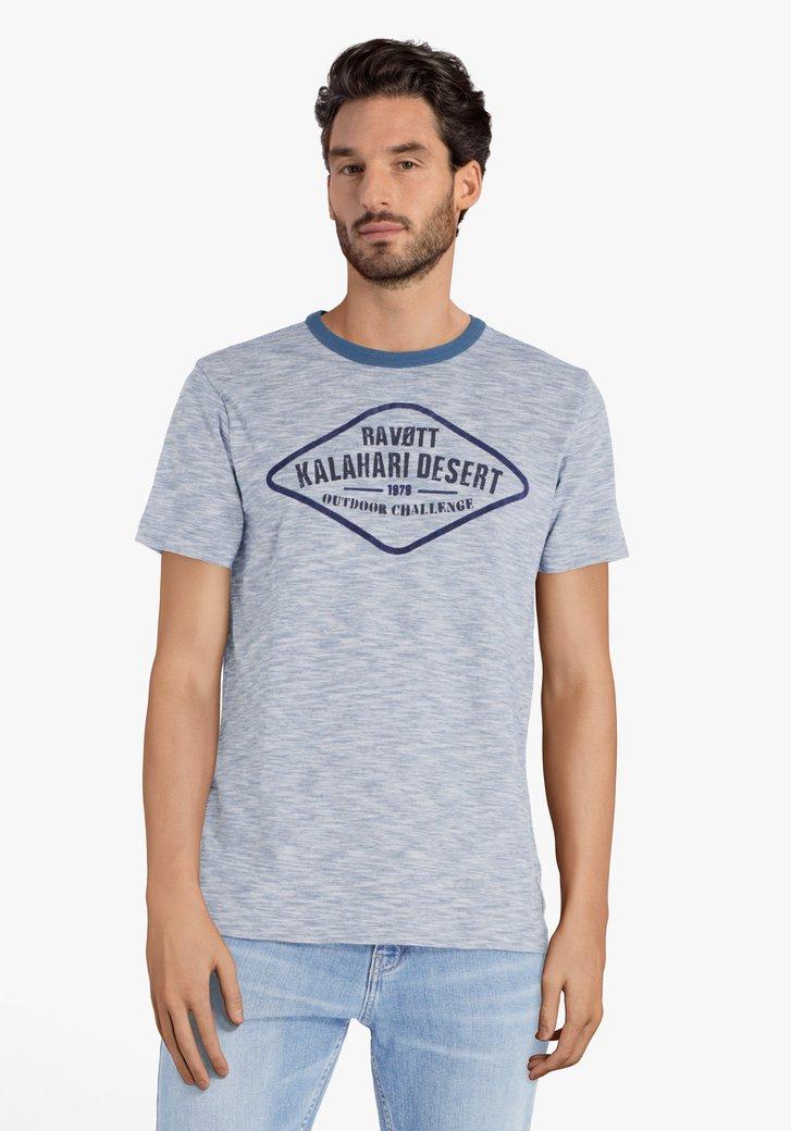 T-shirt bleu en coton avec inscription