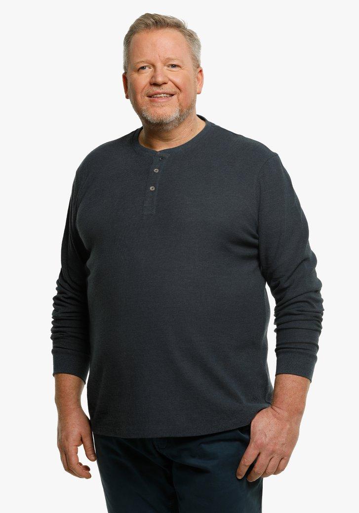 T-shirt bleu marine à manches longues