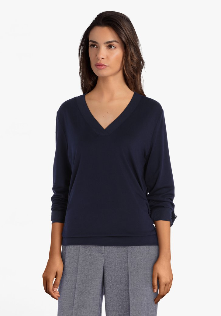T-shirt bleu marine en modal