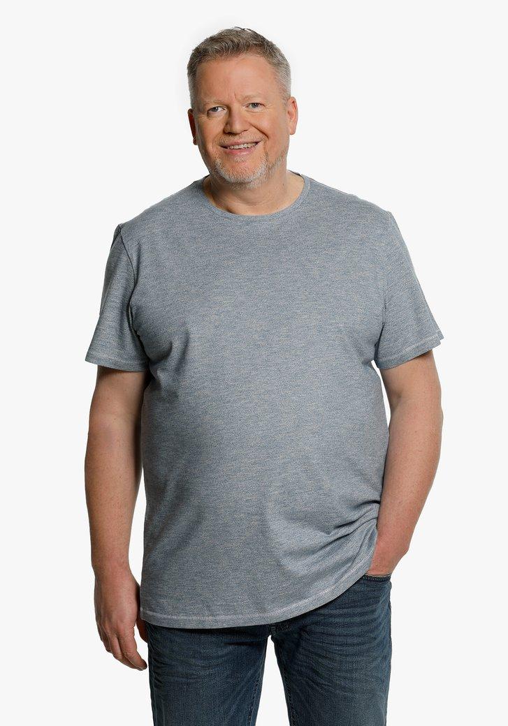 T-shirt en coton bleu acier
