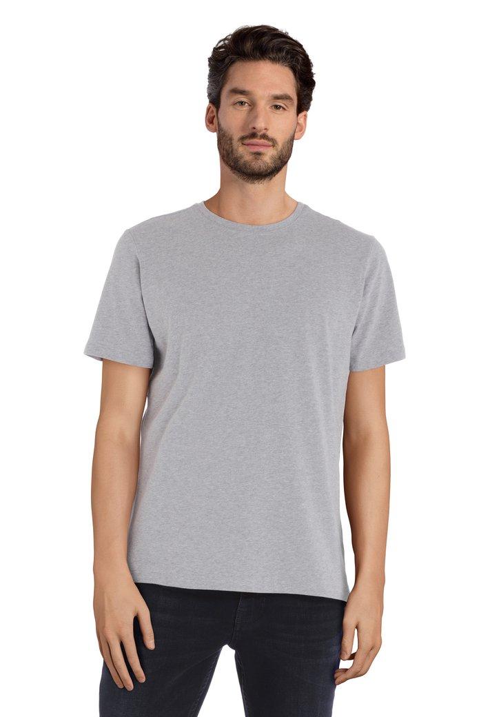 T-shirt gris à col rond
