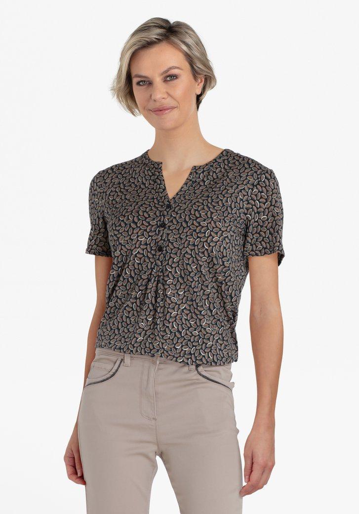 T-shirt gris foncé avec petit imprimé