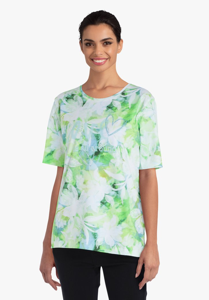 T-shirt in groene tinten