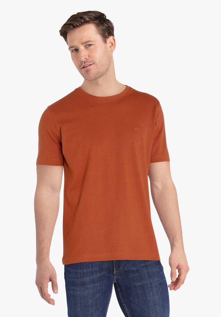 T-shirt marron-orange