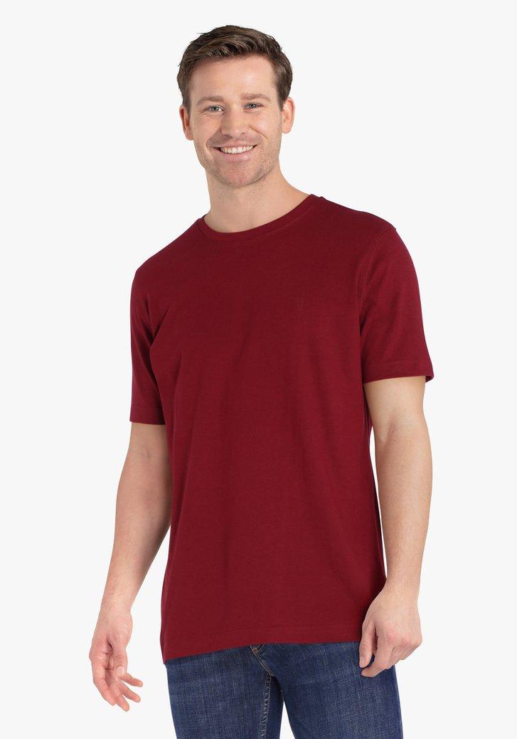 T-shirt marron rouge