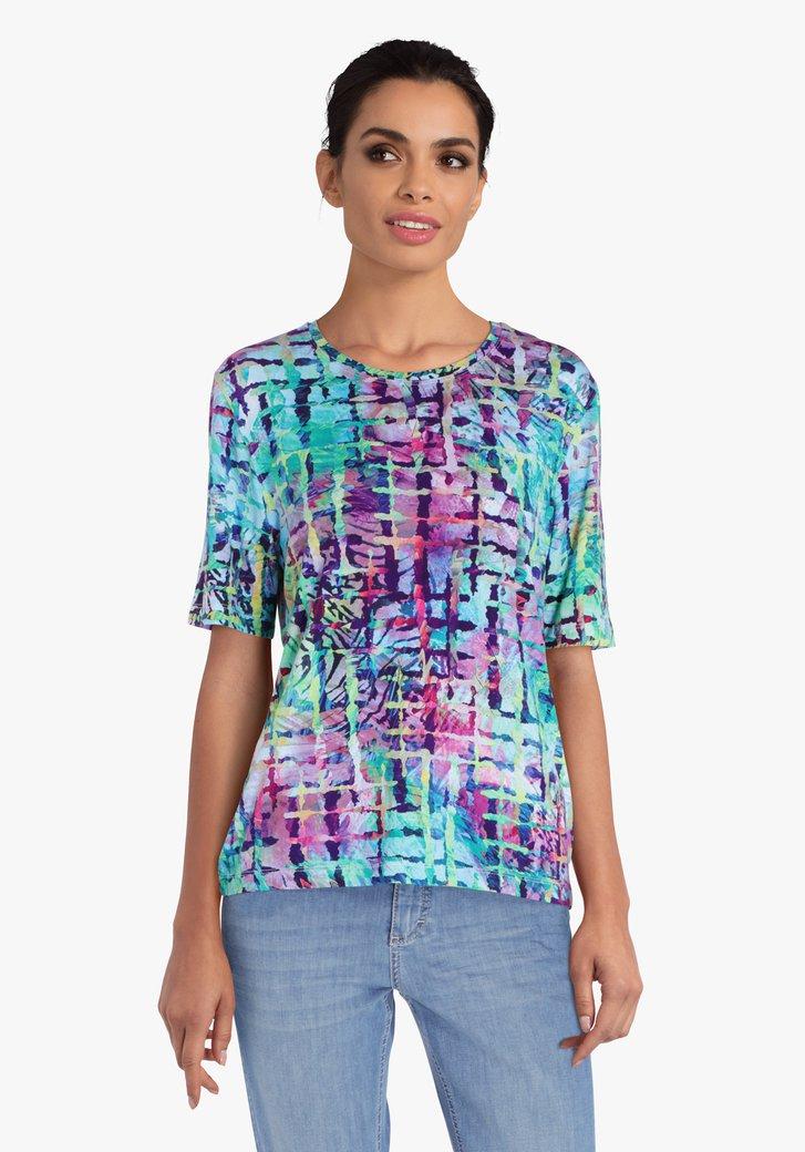 T-shirt met print in opvallende kleuren