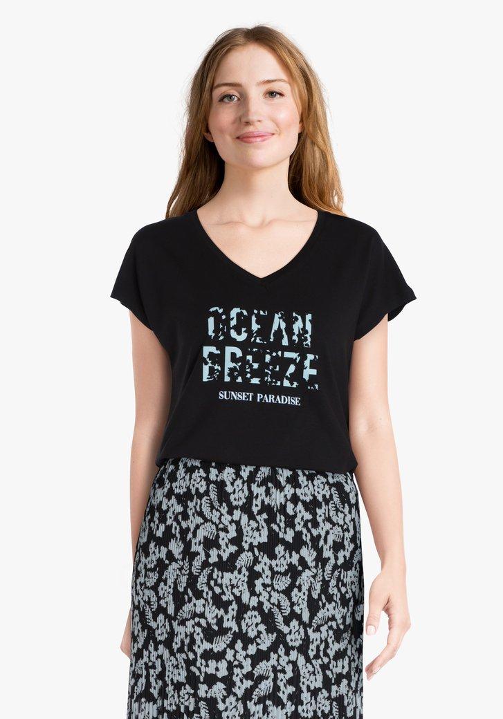 T-shirt noir avec inscription