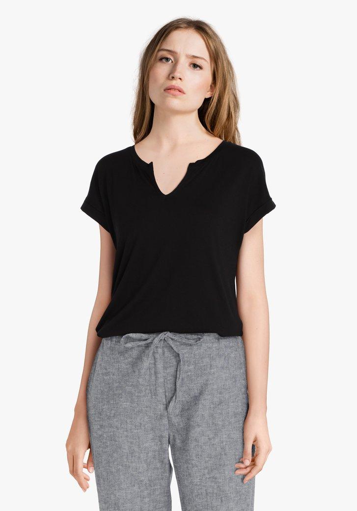 T-shirt noir en modal