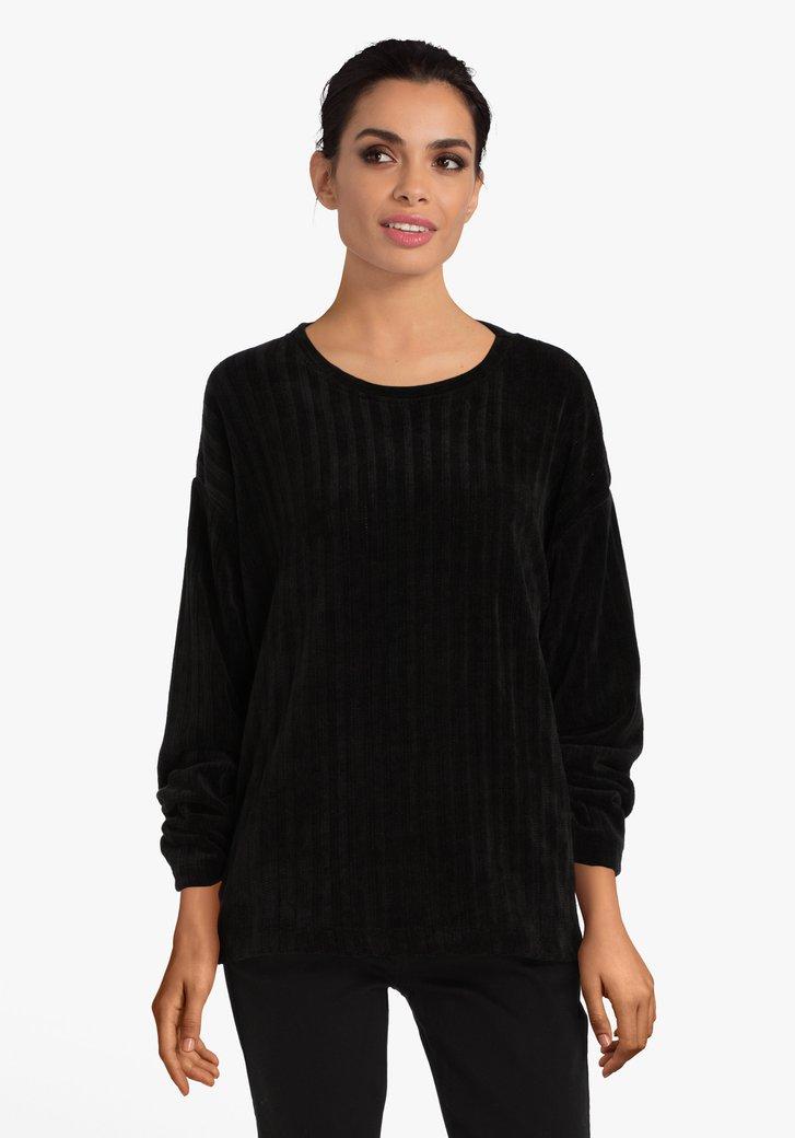 T-shirt noir en velours