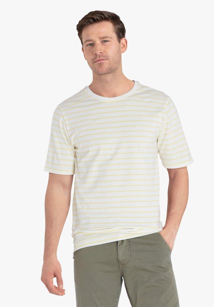 T-shirt rayé blanc-jaune