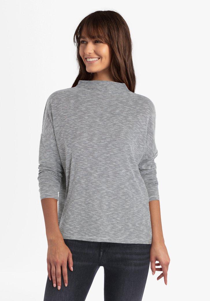 T-shirt rayé blanc-noir