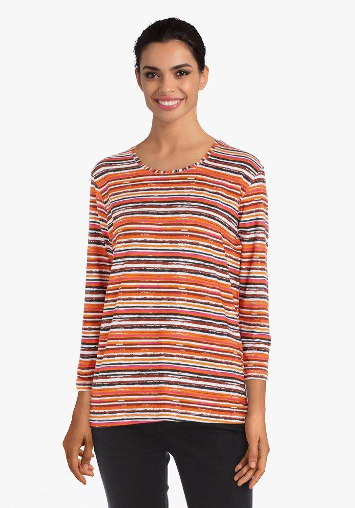 T-shirt rayé orange