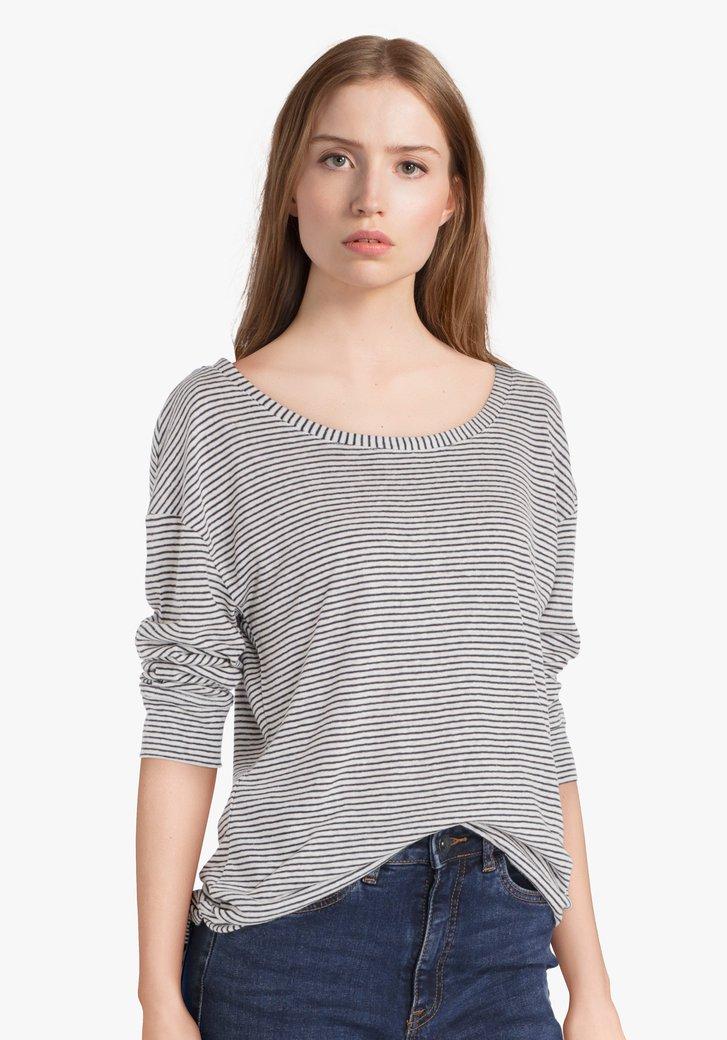 T-shirt rayée bleu marine