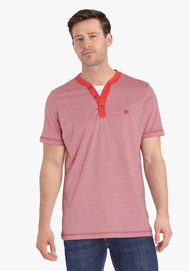 T-shirt rouge à rayures