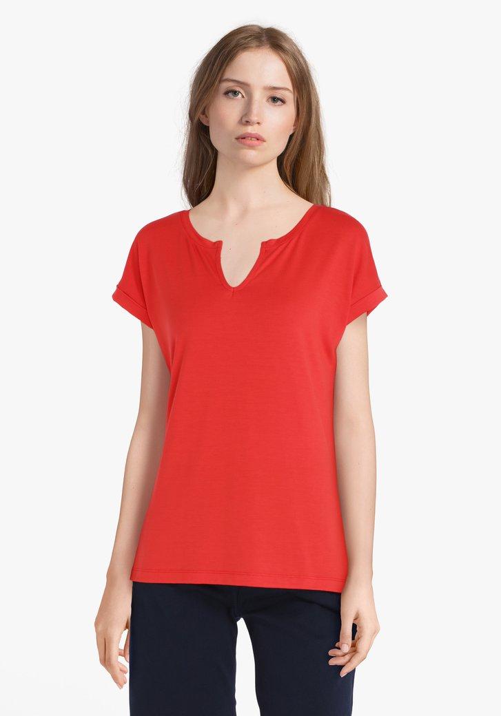 T-shirt rouge en modal