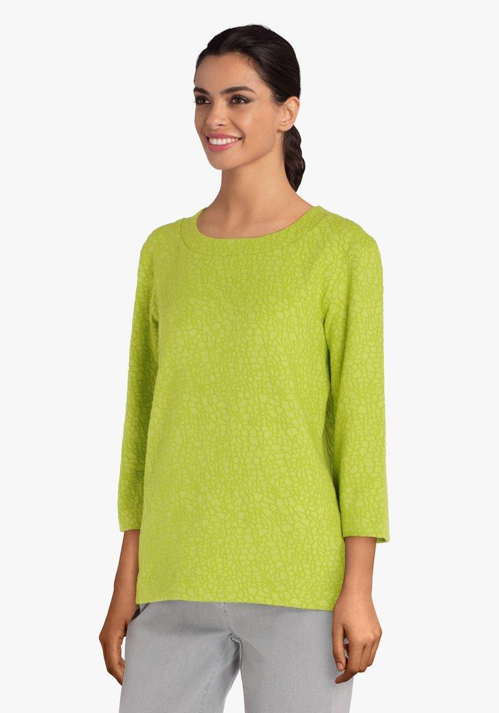 T-shirt vert en relief