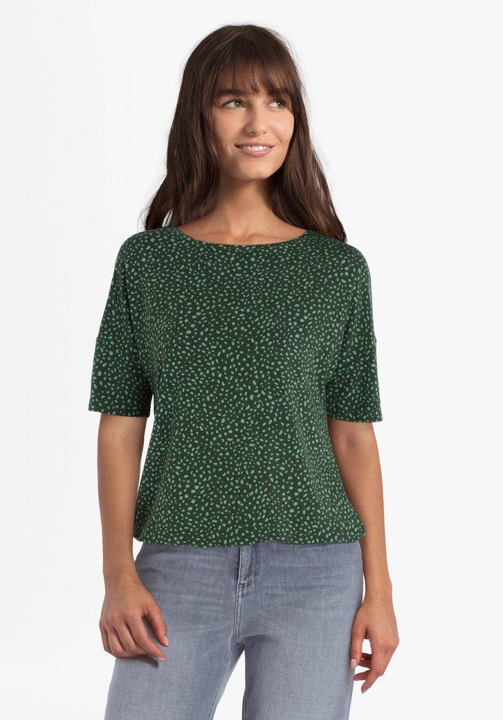 T-shirt vert foncé avec impression